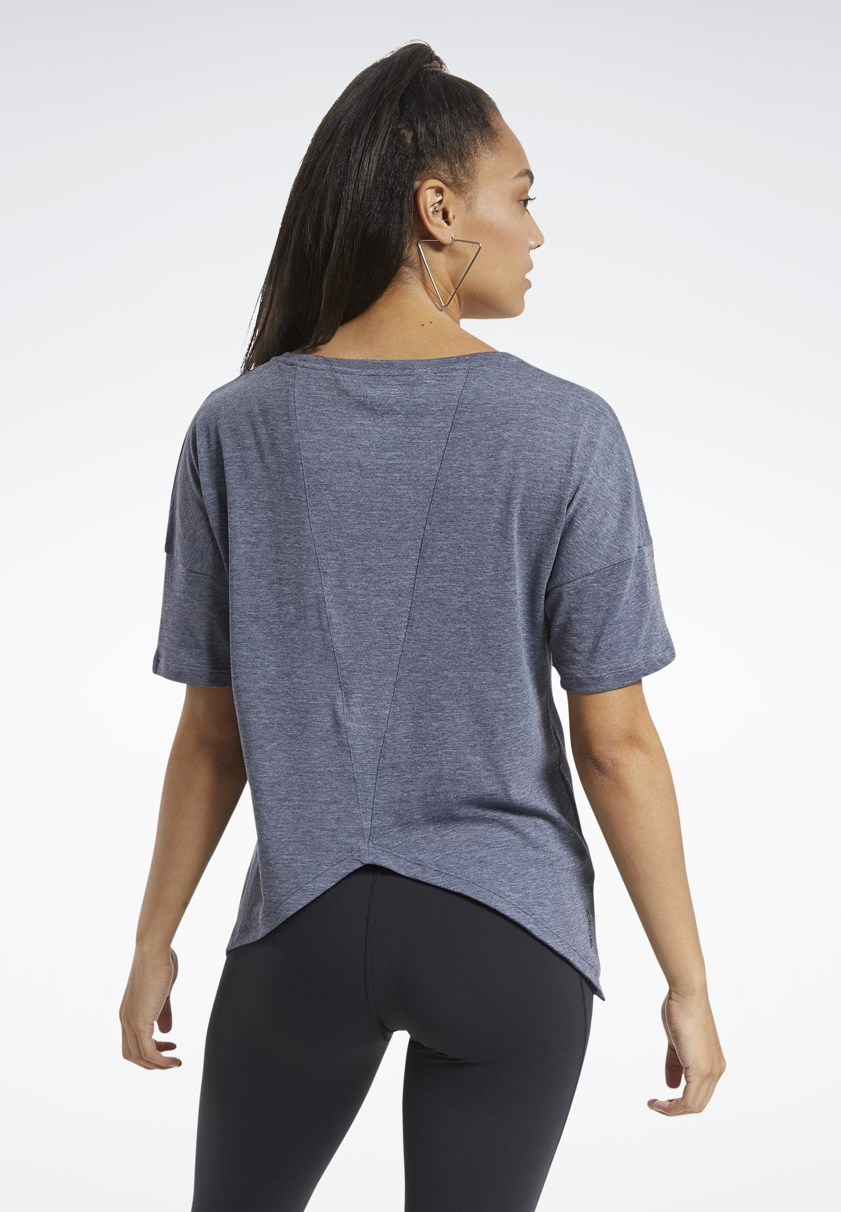 Reebok ACTIVCHILL+COTTON T-SHIRT - Basic T-shirt - blue F9rBF