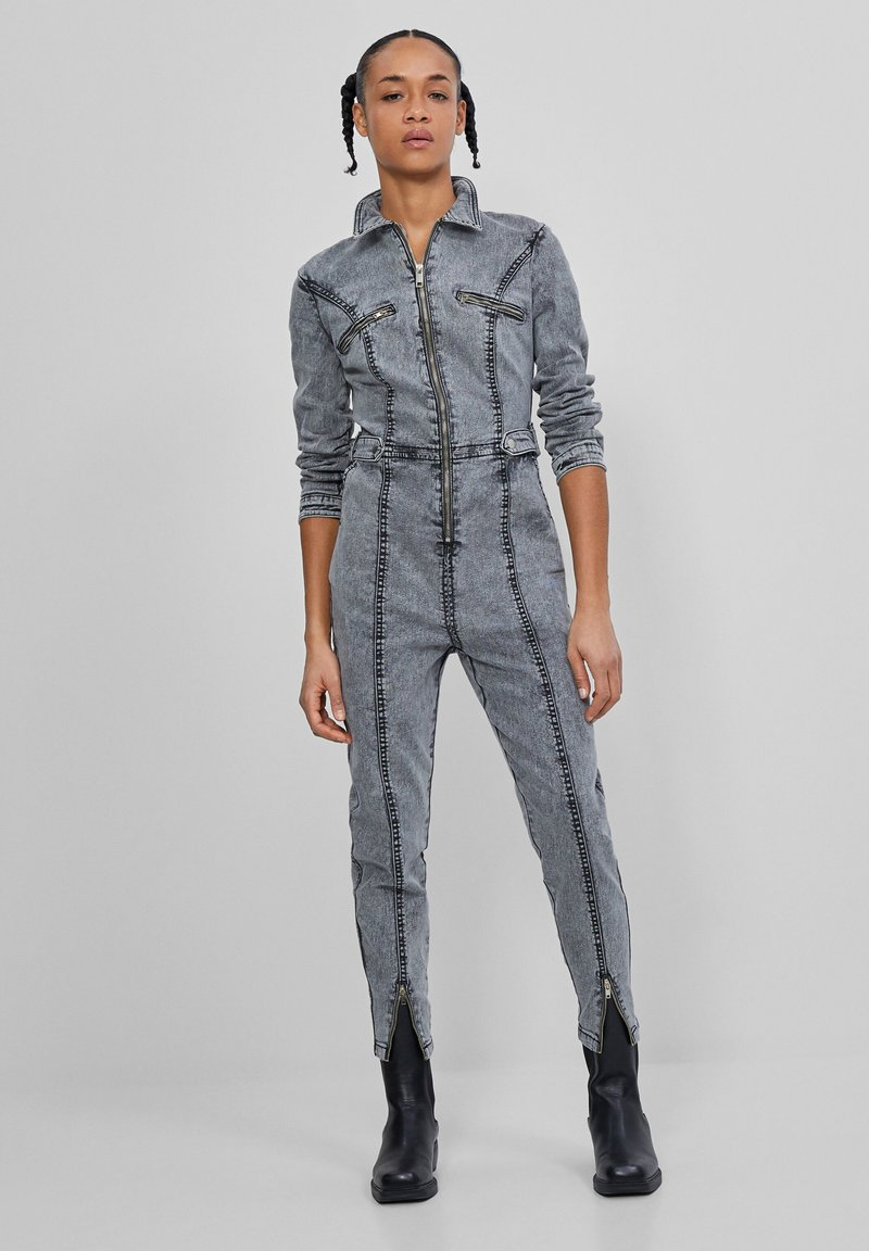 Bershka - Jumpsuit - dark grey