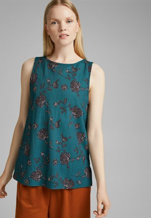 Blouse - teal green