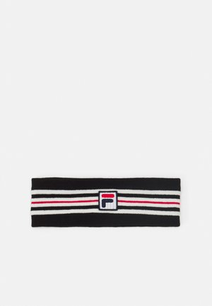 INTARSIA HEADBAND WITH BOX LOGO UNISEX - Ohrenwärmer - black iris/true red/bright white