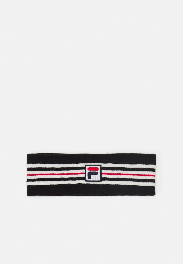 INTARSIA HEADBAND WITH BOX LOGO UNISEX - Öronvärmare - black iris/true red/bright white