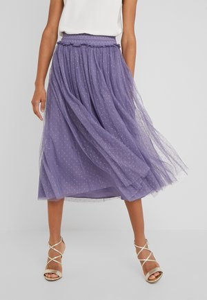 HONEYCOMBE SMOCKED BALLERINA SKIRT - A-Linien-Rock - bluebell
