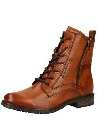 Bugatti - Lace-up ankle boots - cognac 6300 - 2