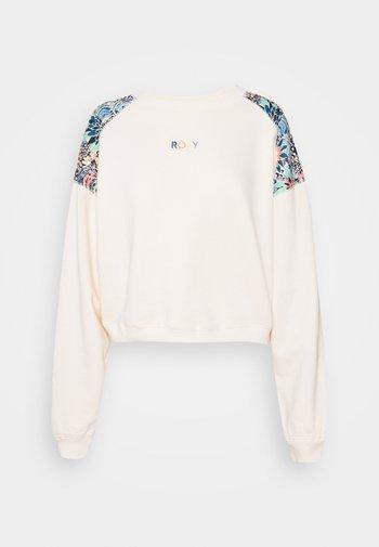 MARINE BLOOM CREW NECK - Sweatshirt - powder