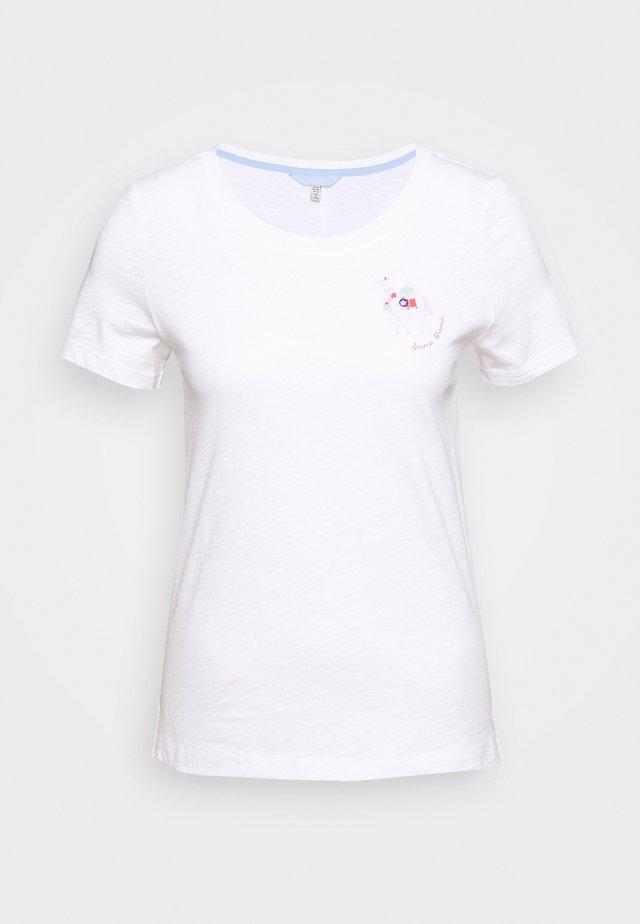 CARLEY - T-shirt print - llamawhite