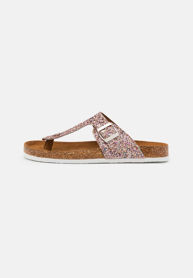 ONLMATHILDA METALLIC TOE SPLIT - Infradito - light pink