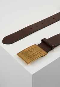 Polo Ralph Lauren - PLO HRTG BLT-CASUAL-SMOOTH LEATHER - Belt - brown - 3