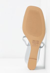 Who What Wear - THALIA - Heeled mules - silver - 6