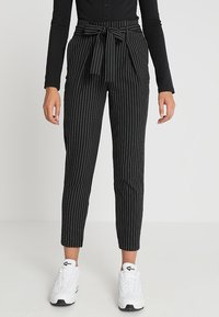 ONLY - ONLNICOLE PINSTRIPE PANTS - Stoffhose - black - 0