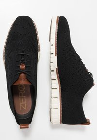 Cole Haan - STITCHLITE OXFORD - Casual lace-ups - black/ivory - 1