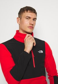 The North Face - MENS GLACIER PRO 1/4 ZIP - Fleecová mikina - fiery red/black - 3