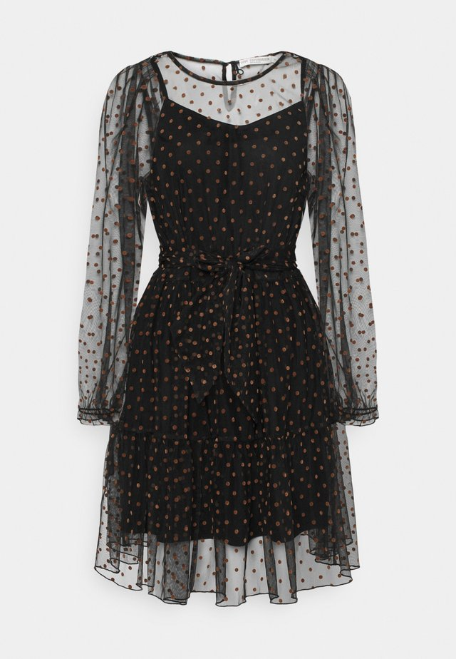 LCASTRID DRESS - Robe de soirée - black/brown