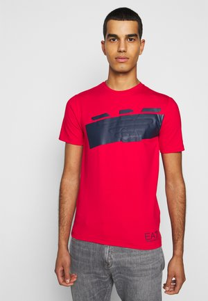 T-shirt med print - racing red