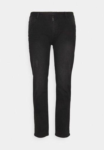 HUNTER SUPERFLEX - Jeans slim fit - distressed black