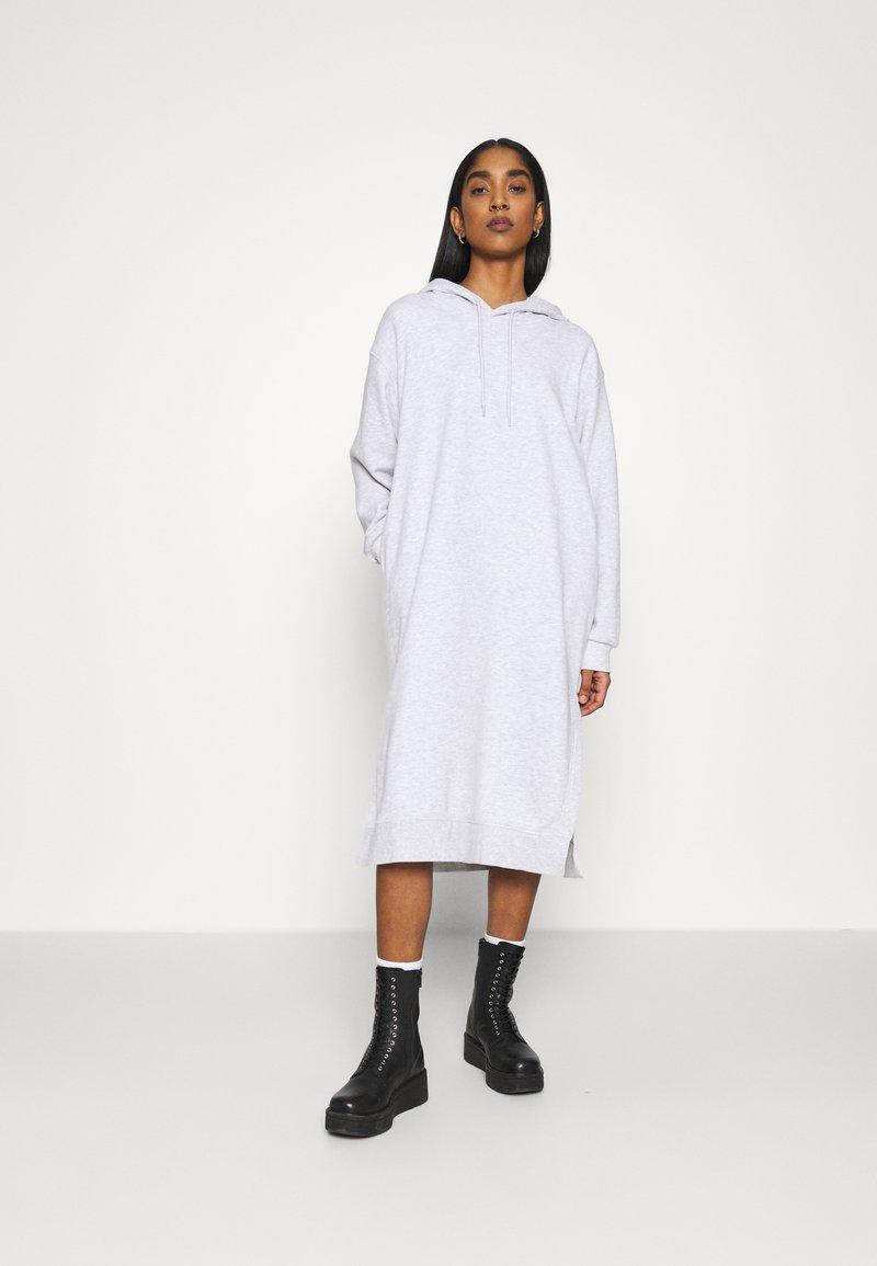 Weekday - MARCIE HOOD DRESS - Day dress - grey melange