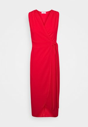 SLEEVELESS WRAP DRESS - Koktejlové šaty / šaty na párty - red