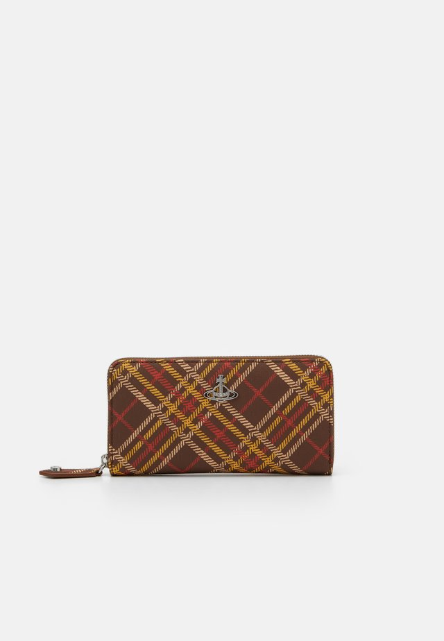DERBY CLASSIC ZIP ROUND WALLET - Wallet - brown/tartan