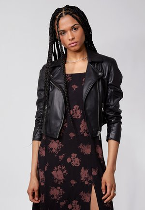 FOREVER YOUNG - Leather jacket - black
