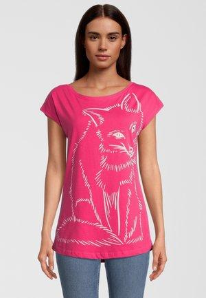 Print T-shirt - rot/pink