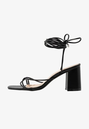 WIDE FIT JENNIFER - Sandalen - black