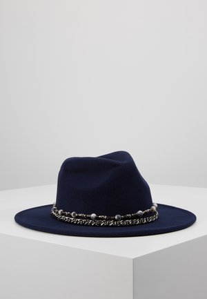 BEAD FEDORA - Hat - navy