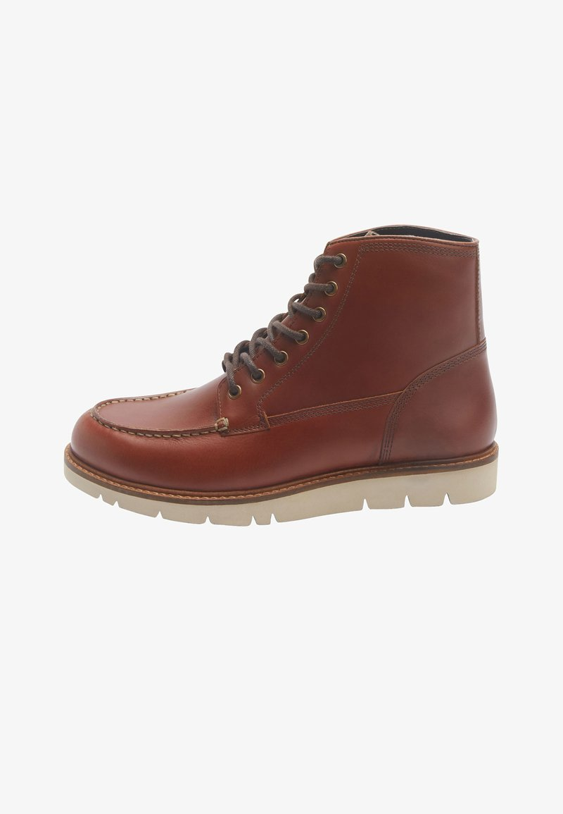 Next - APRON - Lace-up ankle boots - brown