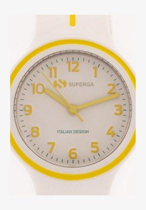 Horloge - bianco/giallo