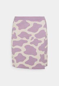 Milk it - CATTLE SKIRT - Mini skirt - lilac/cream - 0