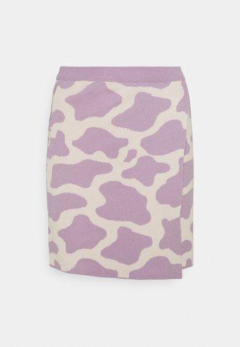 CATTLE SKIRT - Mini skirt - lilac/cream