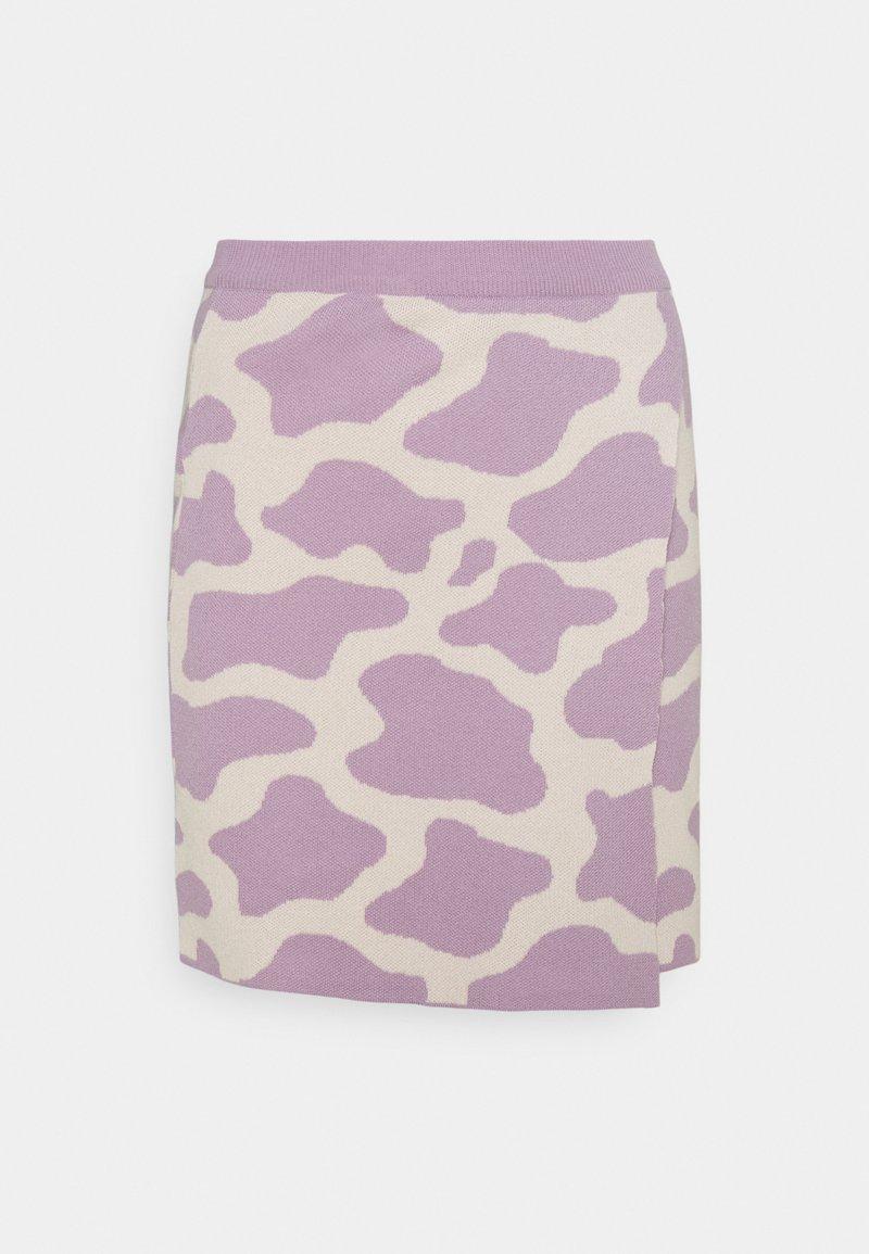 Milk it - CATTLE SKIRT - Mini skirt - lilac/cream