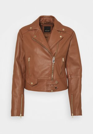 SENSIBILE CHIODO - Leather jacket - brown