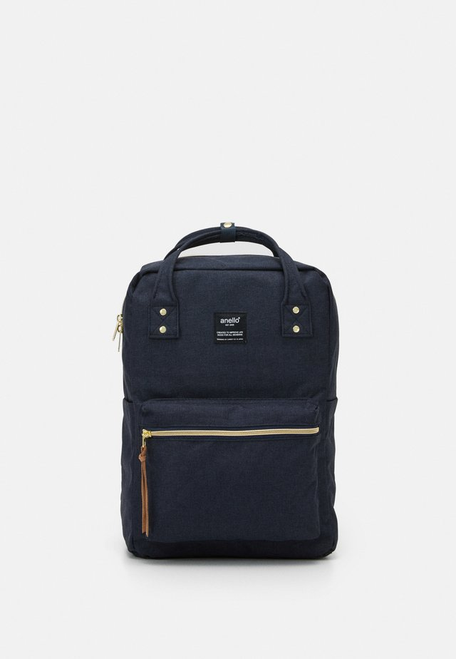 SQUARE BACKPACK UNISEX - Reppu - navy