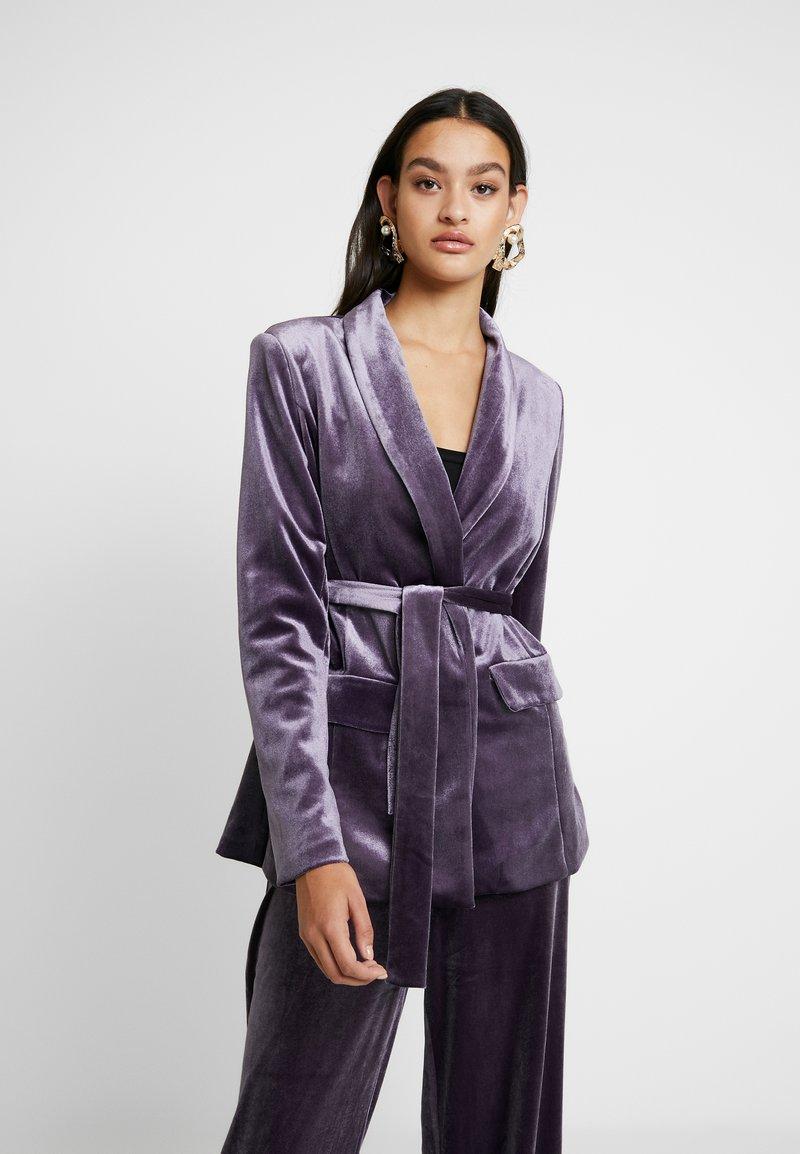 Missguided - LIGHT MAGIC TIE WAIST - Blazer - purple