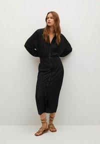 Mango - Shirt dress - černá - 1