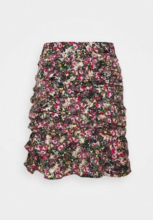 VMJULIANNA SHORT SKIRT  - Pencil skirt - black/yellow anneline