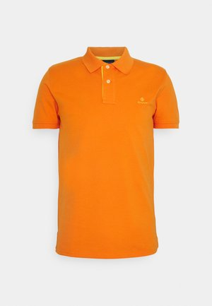 CONTRAST COLLAR RUGGER - Poloshirt - russet orange