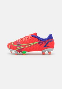 Nike Performance - JR MERCURIAL VAPOR 14 ACADEMY FG/MG UNISEX - Moulded stud football boots - bright crimson/metallic silver - 0