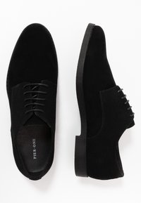 Pier One - Smart lace-ups - black - 1