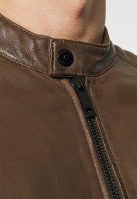 Strellson - DERRY - Leather jacket - tobacco - 5