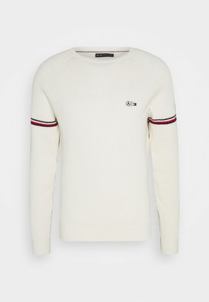 ICON CREW NECK - Sweter - white