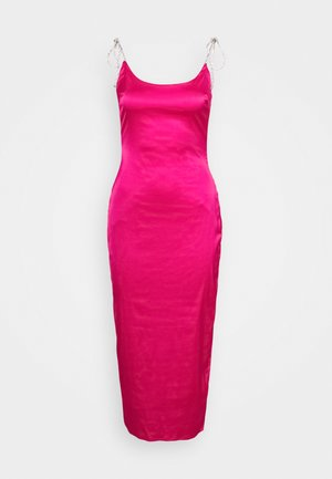 DIAMANTEN LOOK TIE STRAP DRESS - Robe de soirée - hot pink