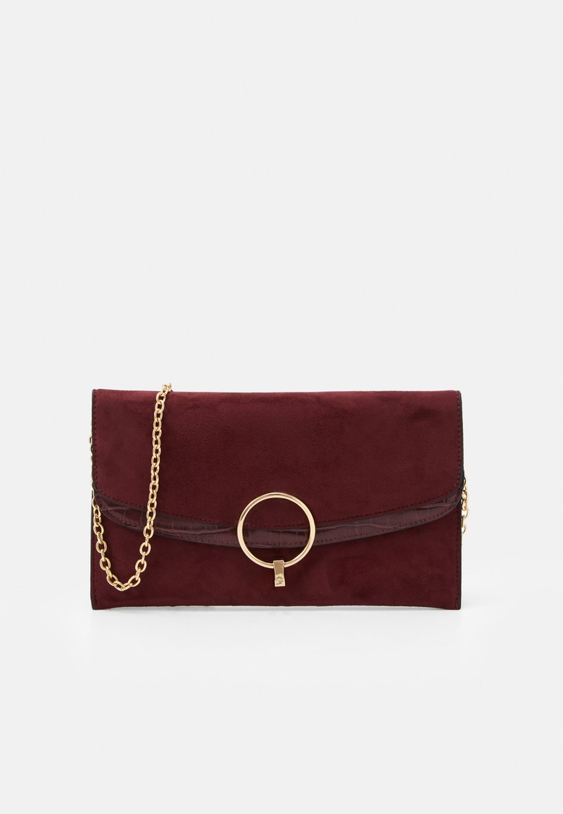 New Look - REESE RING DETAIL - Clutch - dark burgundy