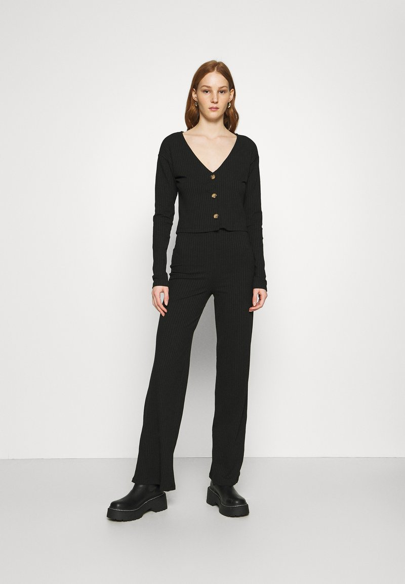 Nly by Nelly - BUTTON CARDIGAN SET - Cardigan - black