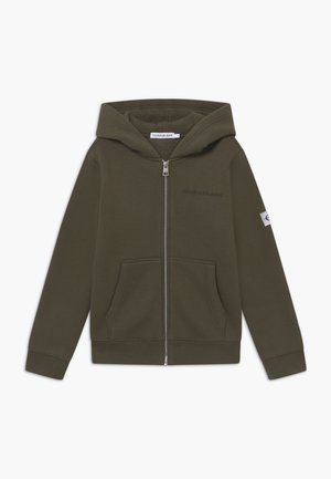 MONOGRAM SLEEVE ZIP HOODIE - Sweatjakke /Træningstrøjer - green
