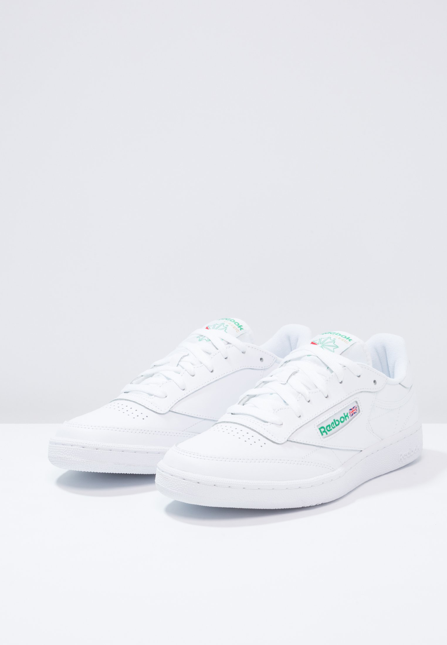 Reebok Classic CLUB C 85 LEATHER UPPER SHOES Sneaker low white/green/weiß