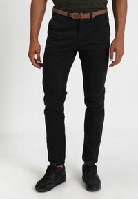 Jack & Jones - JJICODY JJSPENCER  - Pantalones chinos - black - 0