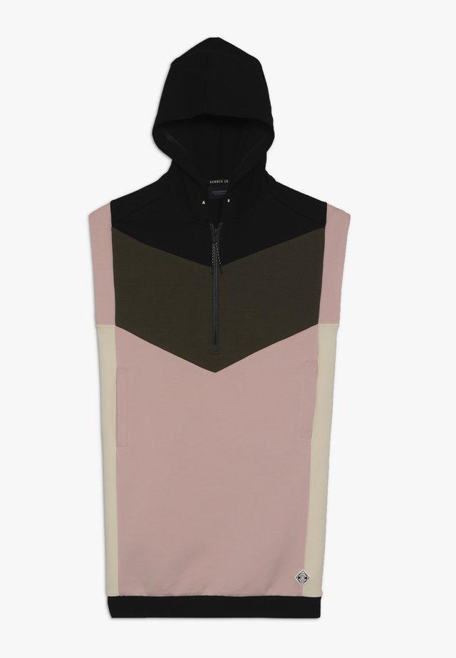 COLORBLOCK DRESS - Vestido informal - light pink/black