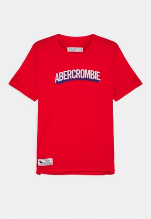 TECH LOGO  - Print T-shirt - red