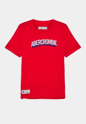 TECH LOGO  - T-shirts print - red