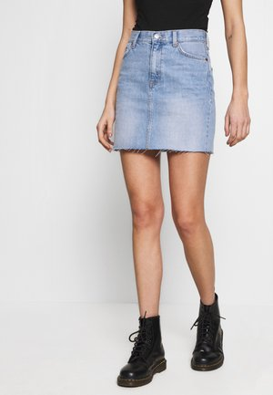 MALLORY SKIRT - Denim skirt - destiny blue